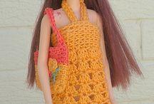 Roupas de Barbie em crochê