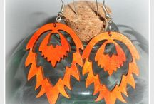Wooden earrings / made by Carmen Hand Crafts