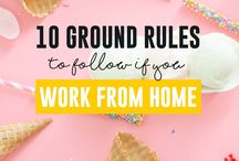 Working from home / Figure out the best way to work from home and keep work and home life separate with these resources.