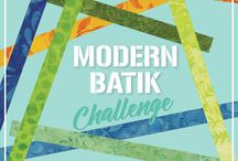 Modern Batik / Ambassador Projects from the #ModernBatikChallenge