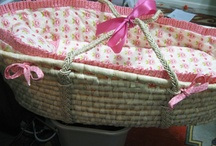 Moses Basket Bedding / I make bedding for Moses Baskets.  Here's some that I have made.