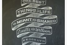 Chalkboard Art / by Daune | Cottage in the Oaks