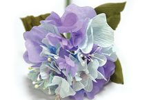 Hydrangea, real and artificial