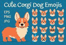 corgi emojis and stickers