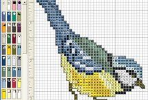 vogels borduren