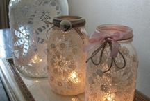Mason Jars / A collections of ideas of what to do with Mason Jars ~ besides can in them!  I use my nicked jars for these projects!