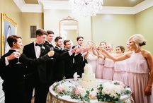 Summertime Wedding - June 10, 2016 / This sweet couple tied the knot on a beautiful summer night Under the Oaks. We love the simple elegance of the lantern centerpieces and the gorgeous bouquet by Sandy Leblanc. Photography by Marissa Lambert. Their cake was done by Baum's Bakery.