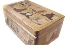 Pudełka / Dekoracje na pudełkach z drewna, wykonane w technice decoupage, autor Iwona Rutkowska