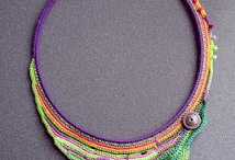 crochet free form necklaces