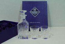 Diversen en cadeau artikelen / Antieke en vintage glazen, flessenbakken, divers glaswerk en verzilverde kado's