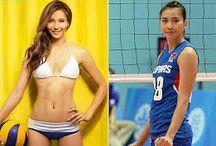 Hot Volleyball Players- Filipino Women / The parade of Hot Filipina Volleyball players.