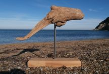 Driftwood Sculptures / Beautiful sculptures created from naturally shaped pieces of driftwood and turned into a piece of art.
