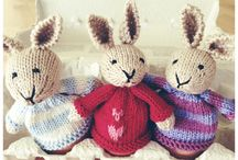 knitted pets and dolls