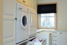 Inspirasjon til vaskerom / Praktiske løsninger og ideer til vaskerom.