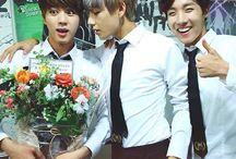 V, J-Hope and Jin