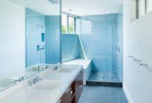 Mid-century modern inspired bathroom