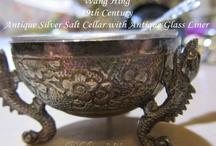 Salt cellars / Antique salt cellars ....Tables from the past