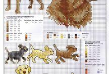 Honden borduur patronen / borduur patronen van honden