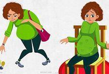 Σκίτσα για εγκύους / Δείτε τις πιο χαρακτηριστικές στιγμές της εγκυμοσύνης, που όλες οι μανούλες έχουν περάσει, μέσα από δώδεκα αστεία σκίτσα.