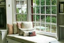 day bed in window