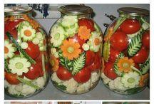 savanyúyágok, pürék, fűszerek