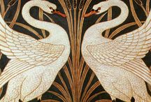 Design Heroes- William de Morgan and William Morris / Designs by William de Morgan and William Morris from the English Arts and Crafts Movement