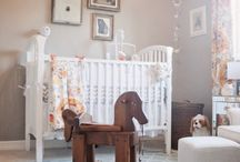 Woodland Nursery / Baby haven in grey and white with accents of woodland, safari and winter blues / by Tenele Robins
