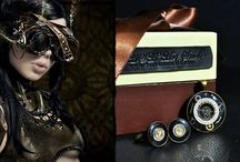 Cuff Links Steampunk - Men's Accessories / Steampunk men's accessories: cuff links, pendants, tie clips and more