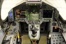 jet ,modern fighter cockpit