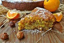 torta con arancia e nocciole