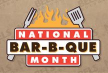 National BBQ Month / May kicks off the unofficial official BBQ Month.  BBQ is more than a sauce, season, it's a style of cooking on the grill.