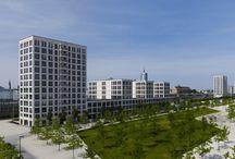 Hofhaus am Arnulfpark München Creme Sintra Kalkstein Prof. Kahlfedt Architekten
