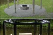 firepit with swings