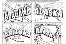 State Postcards Worksheets