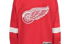 Detroit Red Wings - Official NHL Hockey Jerseys / We are the leading manufacturer of professional sports lettering & numbering and we have been selling officially licensed NHL jerseys and apparel via the internet since 1999. Visit: CoolHockey.com for more!