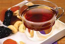 Чаи горячие с фруктами, ягодами и молоком