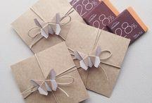 Origami invitations cards
