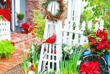 My Painted Christmas Cottage / My painted Christmas Cottage Home and Art tour.