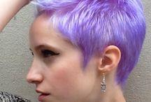 Fialová / vlasy