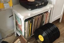 Records, vinyl , albums, 45's and adorable turntables !!