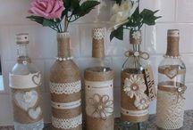 bottiglie e barattoli decorati