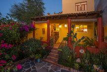 """Casa Aloha / Everything about this lovely house on the best street in Mexiquito says """"welcome."""" The entrance and living/dining room all flow into the kitchen, which looks out on a lush back yard complete with a relaxing garden and natural rock waterfall."""