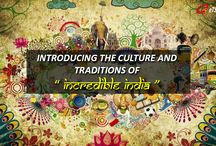 CULTURE OF INDIA / India is one of the world's oldest civilizations and 'Unity in diversity' is what defines India's incredibly colorful culture and ancient heritage. The warmth in the relations and euphoria in celebrations make the country stand out distinctively. Here, we bring to you an amalgamation of religions, festivals, food, art, crafts, dance, music and the culture of ‪‎INCERDIBLE INDIA‬. WATCH OUT THIS SPACE FOR MORE!!