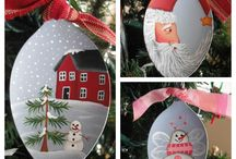 painted spoons / by (Country Lane Folk Art) Becky Levesque