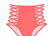 High Waist Strappy Bikini Bottom / AUD $34.95