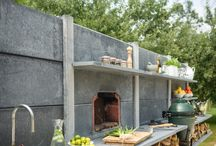 Garden | Green Egg / Outdoor kitchen
