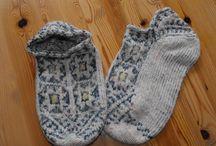 Breien en wol verven/ Knitting and dying