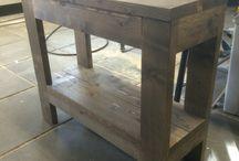 mijn zelfgemaakte meubels / Meubels die ik zelf heb gemaakt van steigerhout