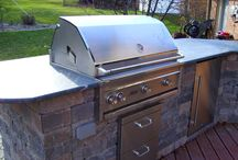 Grill Time / Custom grills and accessories in the landscape.