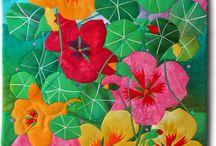 Quiltkunst / Bloemen